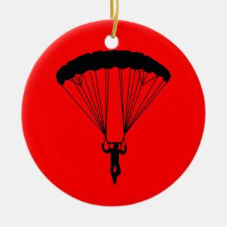 skydiver silhouette ornament
