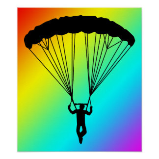 skydiver silhouette poster