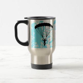 skydiver silhouette travel mug