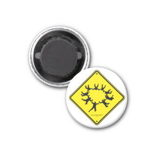 Skydivers Caution Sign Magnet