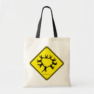 Skydivers Caution Sign Tote Bag
