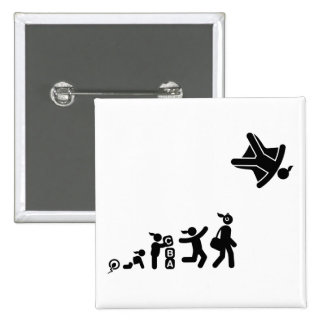 Skydiving 2 Inch Square Button