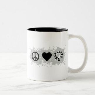Skydiving 2 Two-Tone coffee mug