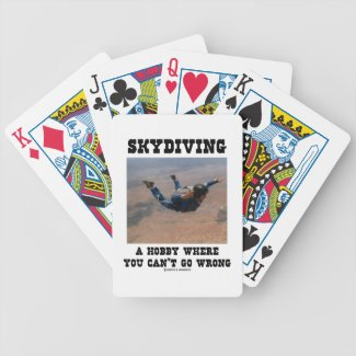 Skydiving A Hobby Where You Can't Go Wrong Card Decks