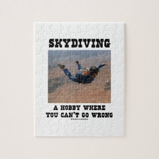 Skydiving A Hobby Where You Can't Go Wrong Puzzle