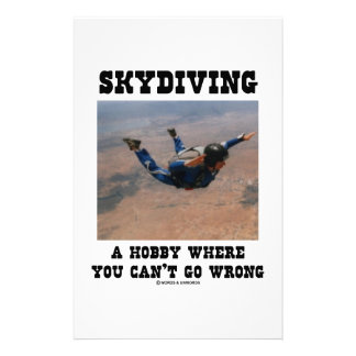 Skydiving A Hobby Where You Can't Go Wrong Customized Stationery