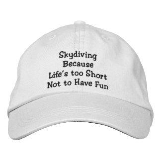 Skydiving Because Personalized Adjustable Hat
