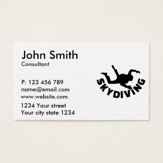 Skydiving Business Card