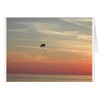 Skydiving Greeting Card