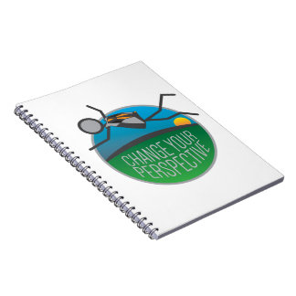 Skydiving Change Your Perspective Spiral Notebook