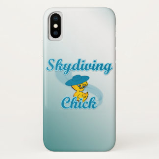 Skydiving Chick #3 iPhone X Case