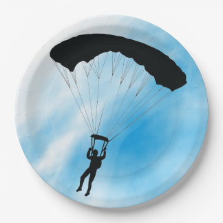 Skydiving Design Paper Party Plate