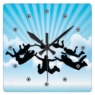 Skydiving Design Wall Clock