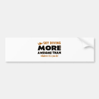 Skydiving designs bumper sticker
