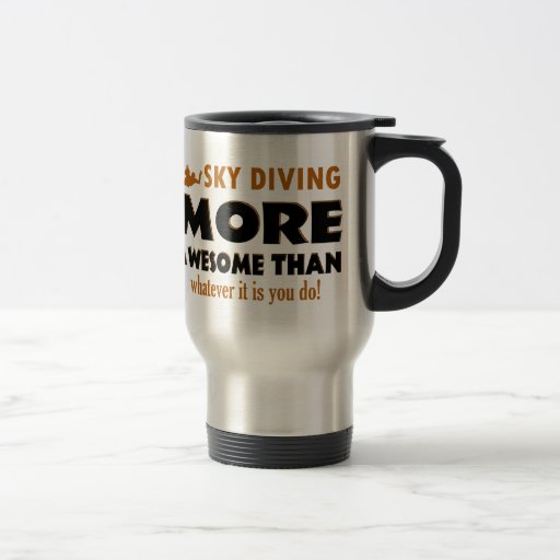 Skydiving designs coffee mugs