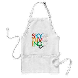 Skydiving Desire Adult Apron