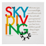 Skydiving Desire Posters