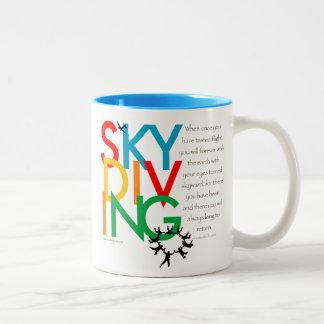 Skydiving Desire Two-Tone Coffee Mug
