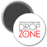 Skydiving Drop Zone 3 Inch Round Magnet