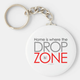 Skydiving Drop Zone Basic Round Button Keychain