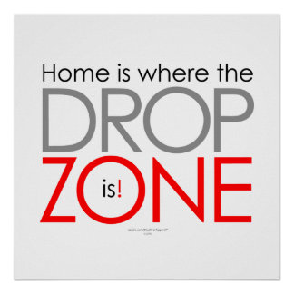 Skydiving Drop Zone Poster