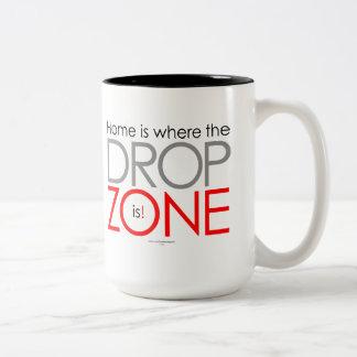 Skydiving Drop Zone Two-Tone Coffee Mug