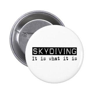 Skydiving es pin redondo 5 cm