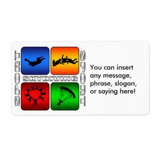 Skydiving espectacular etiquetas de envío