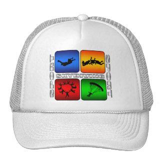 Skydiving espectacular gorras de camionero