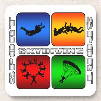 Skydiving espectacular posavasos de bebida