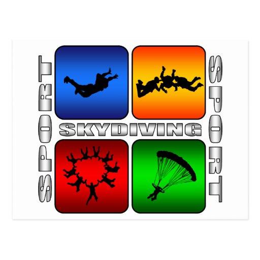 Skydiving espectacular postales