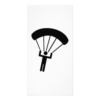 Skydiving icon photo greeting card