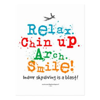 ¡Skydiving interior es una ráfaga! Postal