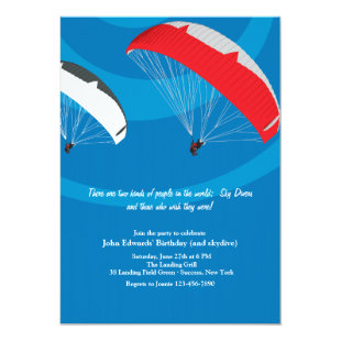 Skydiving Invitation