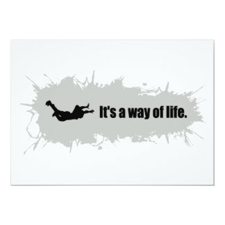 Skydiving is a Way of Life Card