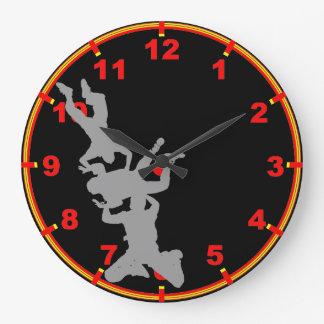 Skydiving Large Clock