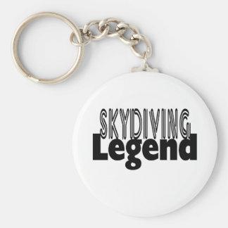 Skydiving Legend Basic Round Button Keychain