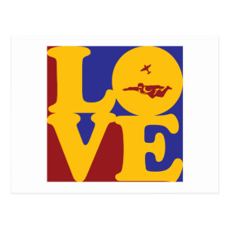Skydiving Love Postcard