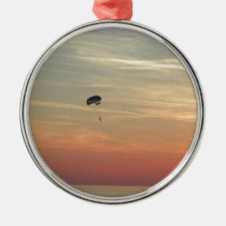 Skydiving Metal Ornament