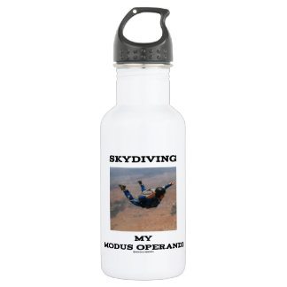Skydiving My Modus Operandi Accelerated Free Fall Stainless Steel Water Bottle