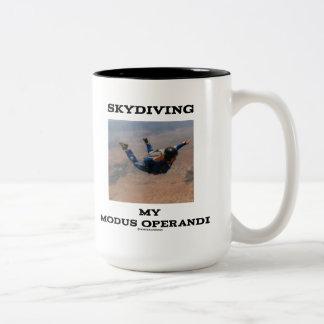 Skydiving My Modus Operandi Accelerated Free Fall Two-Tone Coffee Mug
