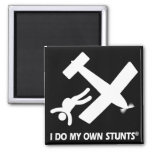 Skydiving My Own Stunts 2 Inch Square Magnet
