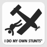 Skydiving My Own Stunts Square Sticker