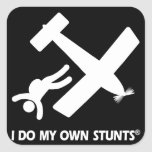 Skydiving My Own Stunts Square Stickers