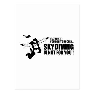 Skydiving no está para usted postales