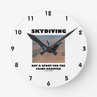Skydiving Not A Sport For The Faint-Hearted Round Clock