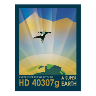 Skydiving on Exoplanet HD 40307g Postcard
