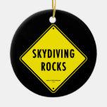 SKYDIVING OSCILA la señal de tráfico Ornamento Para Arbol De Navidad