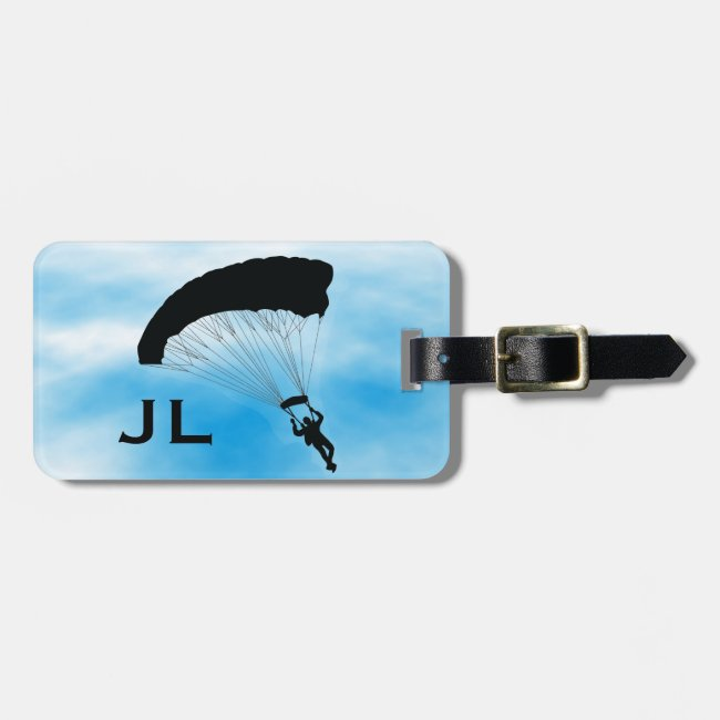 Skydiving Parachuting Design Luggage Tag