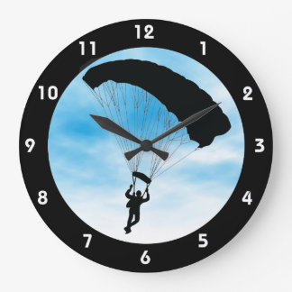 Skydiving Parachuting Design Wall Clock